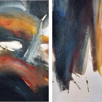 Acrylique sur vélin d'Arches, [36 x 27 cm] x 2, 1992