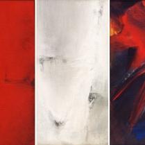 Acrylique sur toile, [42 x 21 cm] x 3, 2001-2002