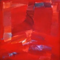 Acrylique sur papier contrecollé, 100 x 100 cm, 2004