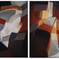 Acrylique sur bois, [100 x 78 cm] x 2, 2004