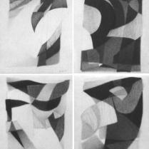 Sans titre. Mine de plomb sur vélin d'Arches, [28 x 20 cm] x 4, 2004