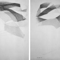Sans titre. Mine de plomb sur vélin d'Arches, [28 x 20 cm] x 2, 2004