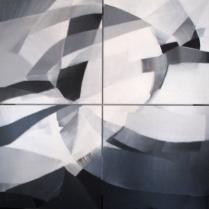 Acrylique sur bois, [100 x 100 cm] x 4, 2006