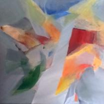 """""""Arbre de vie"""". Acrylique sur bois, 100 x 100cm, 2017"""
