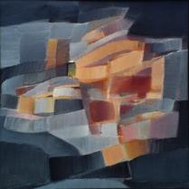 Acrylique sur papier contrecollé, 100 x 100 cm, 2003