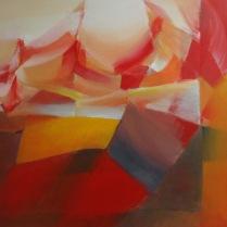 """""""Insurrection"""". Acrylique sur bois, 110 x 155 cm, 2010"""