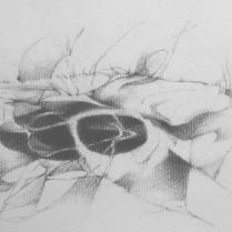 """Paysage anthropomorphe II"". 20 x 30 cm"