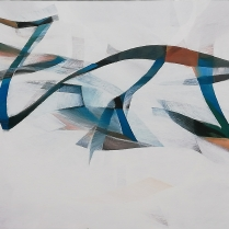 """""""Jacob avec l'ange"""" - Acrylique sur toile, 130 x 162 cm, 2018"""