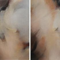 Huile sur toile, [75 x 50 cm] x 2, 1988