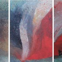 Acrylique sur bois, [75 x 50 cm] x 3, 2016