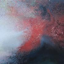 """""""L'arbre des amants"""". Acrylique sur bois, 94 x 122 cm, 2016"""