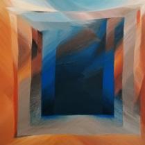 """""""Requiem"""" - Acrylique sur toile, 100 x 100 cm, 2018"""