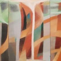Acrylique sur toile, (75 x 50 cm) X 3, 2019