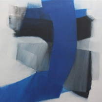 """""""Liberté entravée"""" - Acrylique sur bois, 100 x 100 cm, 2012"""