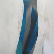 """Black and Blue VII"", 95 x 95 cm, 2020"